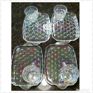Vintage Federal Glass Iridescent Glass Snack Plate